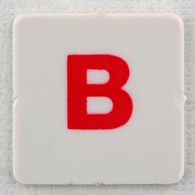 Hangman Tile Red Letter B Flickr Photo Sharing