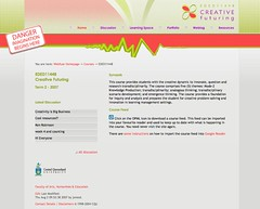 Home page for Web 2.0 course site
