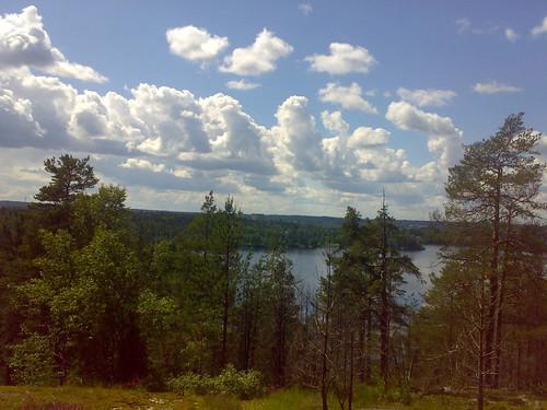 cloud lake green nature water forest finland woods peace fort hill sacred katumajärvi kappolanvuori sacredplacesoffinland