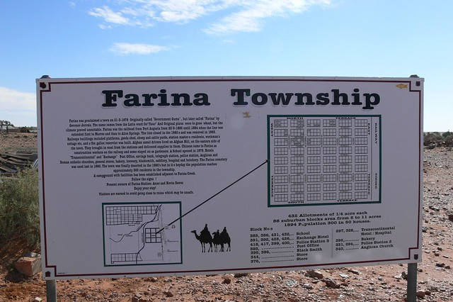 Farina Township - Adelaide to Alice Springs by Road & Bush Track