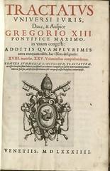 Tractatus universi iuris (1584-86): Title page