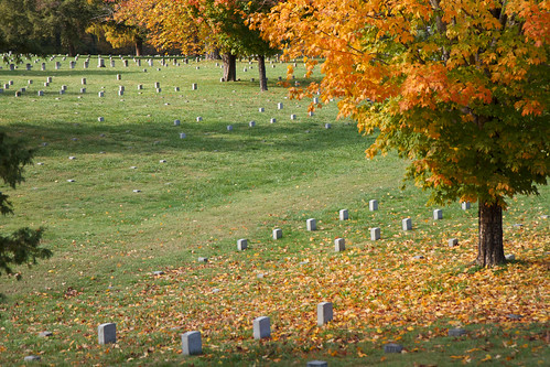 autumn fall cemetery yellow landscape virginia civilwar battlefield 1862 fredericksburg tombstones
