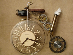 Steampunk Bicycle Clock