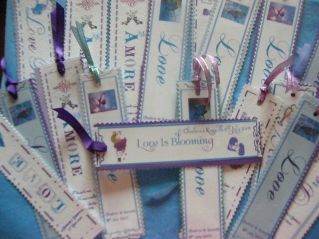 Wedding Bookmark Favours