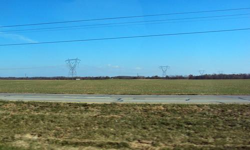 road trip travel ohio field car rural highway farm route 23