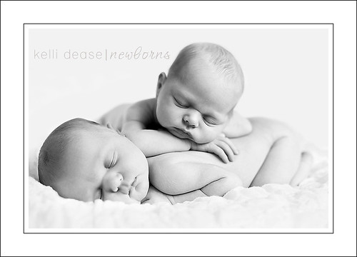 'e' and 'v' - newborn twin girls