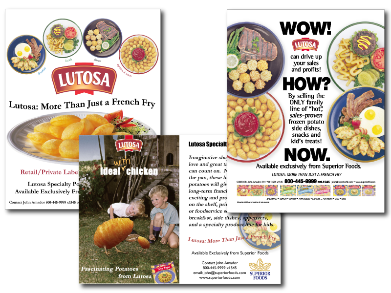 Superior Foods Magazine Ads