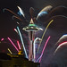 Seattle New Years Fireworks 2010 by hobbes8calvin