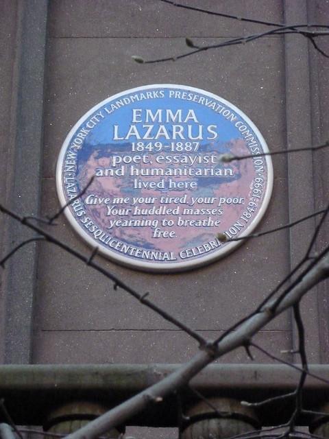 Emma Lazarus Lived Here