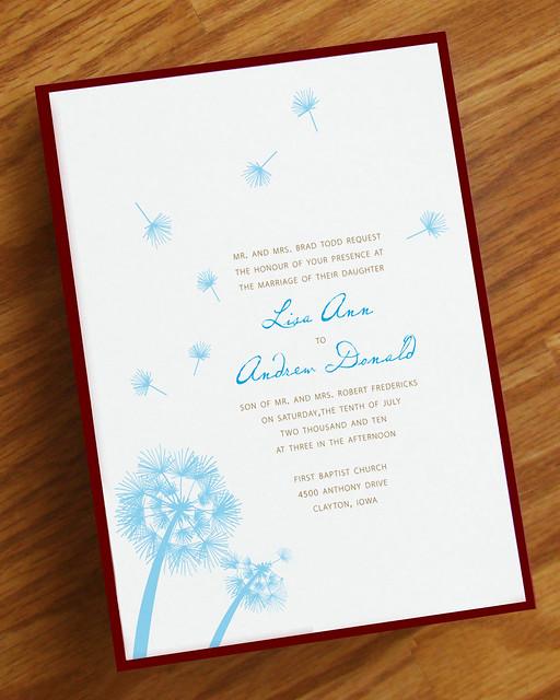 dandelion wedding invitation flickr photo sharing