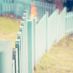 Blue.... tiful Turquoise Fence
