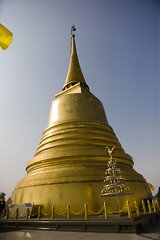 temple, building, yellow, landmark, place of worship, wat, stupa, pagoda,
