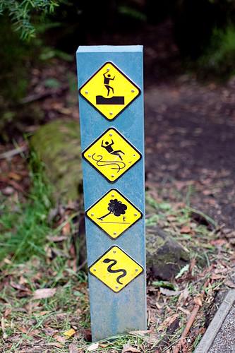 sign at hiking trail