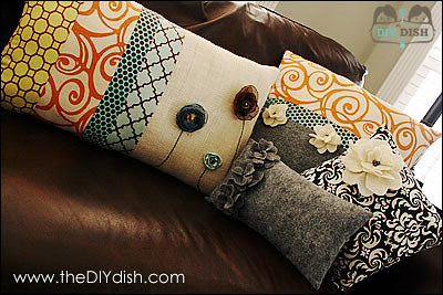 How to make decorative pillows - theDIYdish.com Flickr - Photo Sharing!