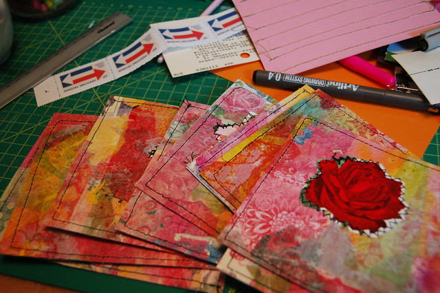 Postcards made with Paper Cloth