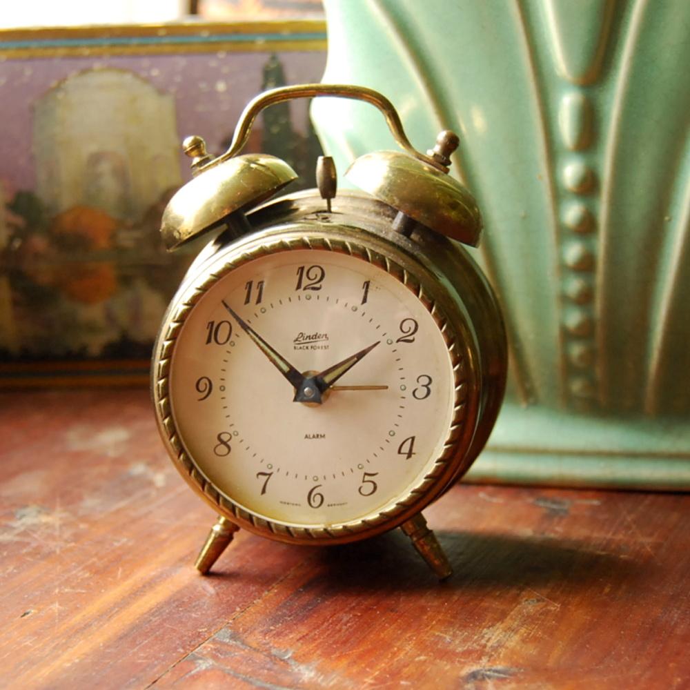 Vintage Brass Alarm Clock, Linden Black Forest | Flickr ...