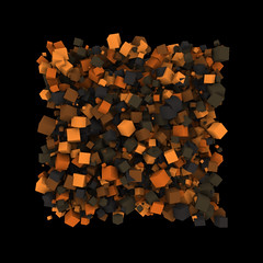 3D cubes test - processing + sunflow