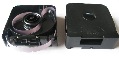 Insides of a super8 cartridge.