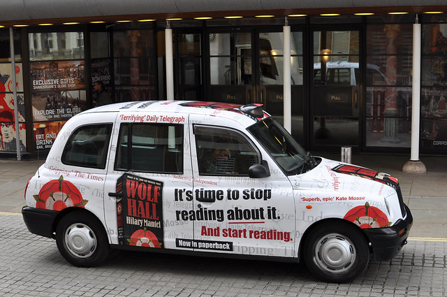 Wolf Hall fully liveried taxi