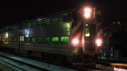 Eastbound Metra local arriving at Park Ridge Illinois. February 2010. by Eddie from Chicago