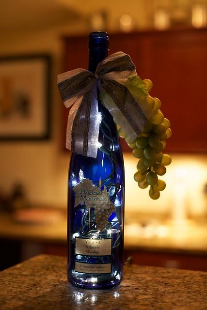 Lighted wine bottle art flickr photo sharing for Lighted wine bottle craft