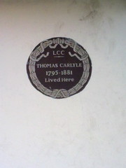 Photo of Thomas Carlyle brown plaque