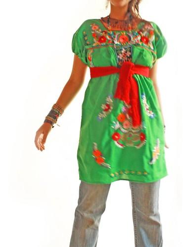 Jade Green Mexican dress