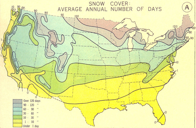 Snow Cover Average Annual Number of Days Flickr Photo Sharing