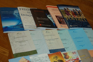 Finished books printed on site at Bibliotheca Alexandrina, Egypt