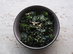 Homemade wakame salad