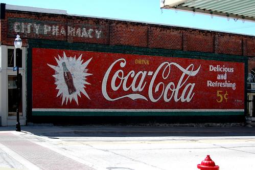Coca Cola Sign in Decatur Texas