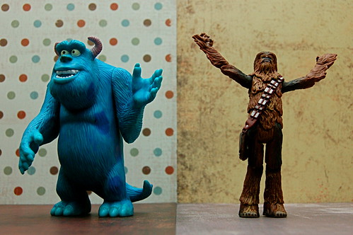Sulley vs. Chewie (98/365)