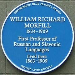 Photo of William Morfill blue plaque