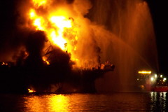 Deepwater Horizon Fire - April 21, 2010