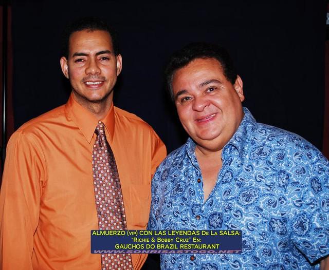 Almuerzo (VIP) En Gauchos Do Brazil Con Richie Ray & Bobby Cruz