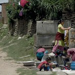 Clothes washing, Nala, Kavre District, Nepal