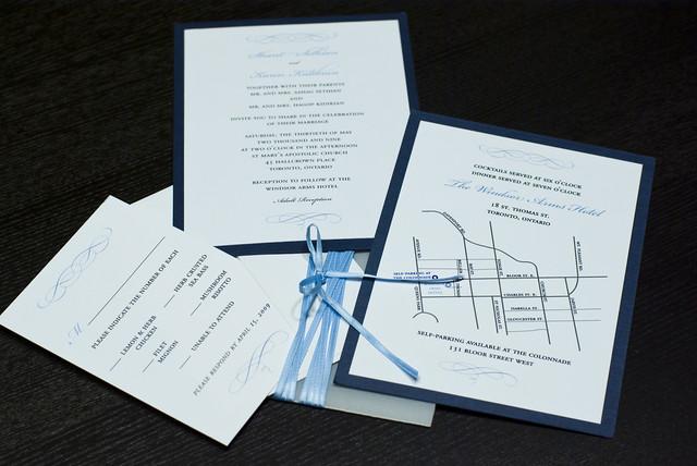 Navy Blue White Wedding