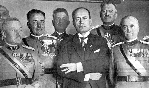 Ambrogio Clerici con Benito Mussolini
