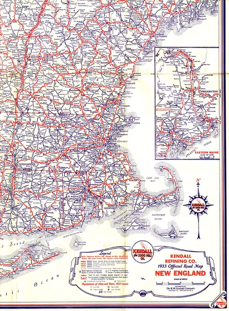 1933 New England Road Map Flickr Photo Sharing!