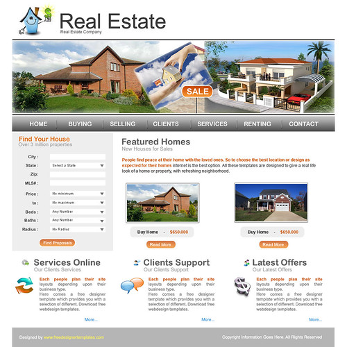 real estate html templates is aimed to cater realtors estate agents