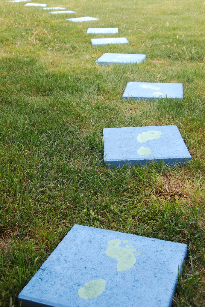 paver stones painted