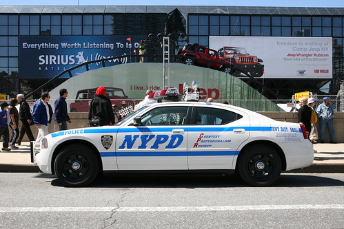 NYPD Highway patrol at Javits Center in NY