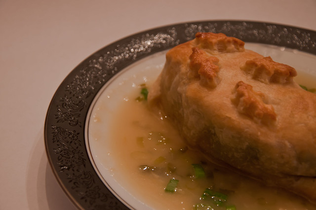 Chicken Wellington with Champagne Sauce