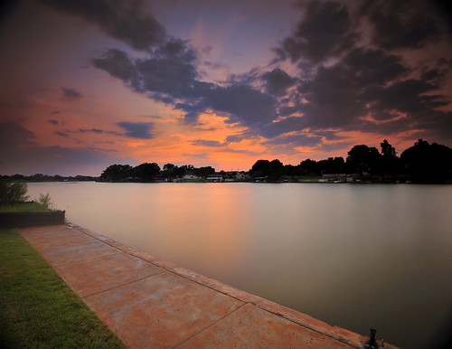 longexposure sunset lake water clouds nikon colorful smooth surreal calm sidewalk nd horseshoebay vignette f4 marblefalls 1635mm lakelbj neutraldensityfilter bw110 d700