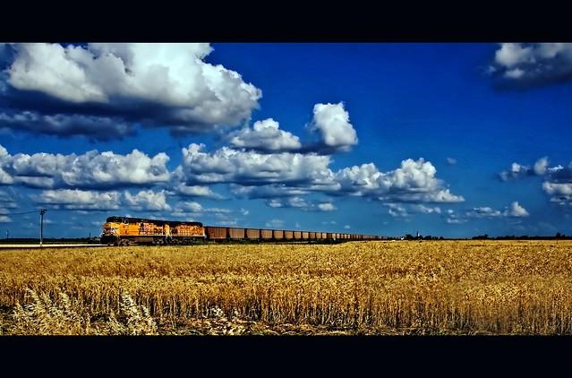 rye, train, sky