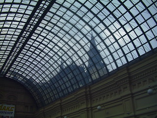 Fantastic glass ceiling of the GUM department store
