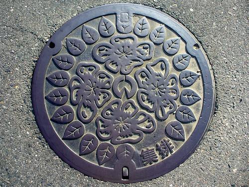 Inazawa Aichi manhole cover 2(愛知県稲沢市のマンホール2)