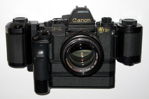 "THE Canon F-1New Los Angeles ""fully equipped"""