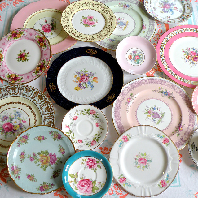 Vintage looking tableware
