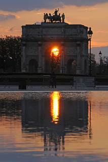 France - Paris - Setting sun